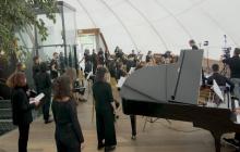 Video-concerto del Coro, dell'Orchestra e dell'Ensemble di chitarre del liceo di Lugano 1